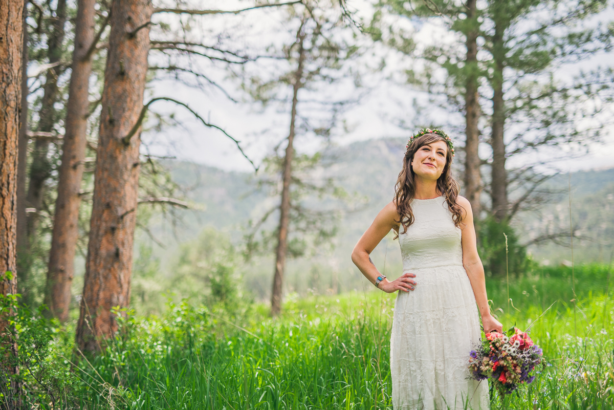 boho bridal portrait in colorado