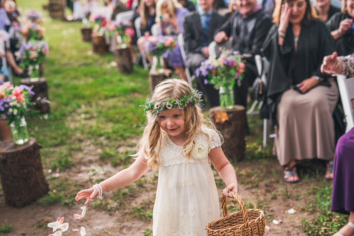 photo of boho flower girl