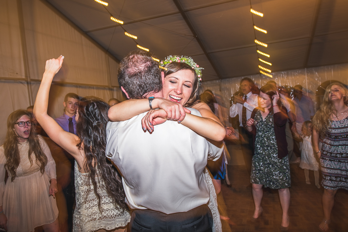 bride and father dancing colorado cherry company