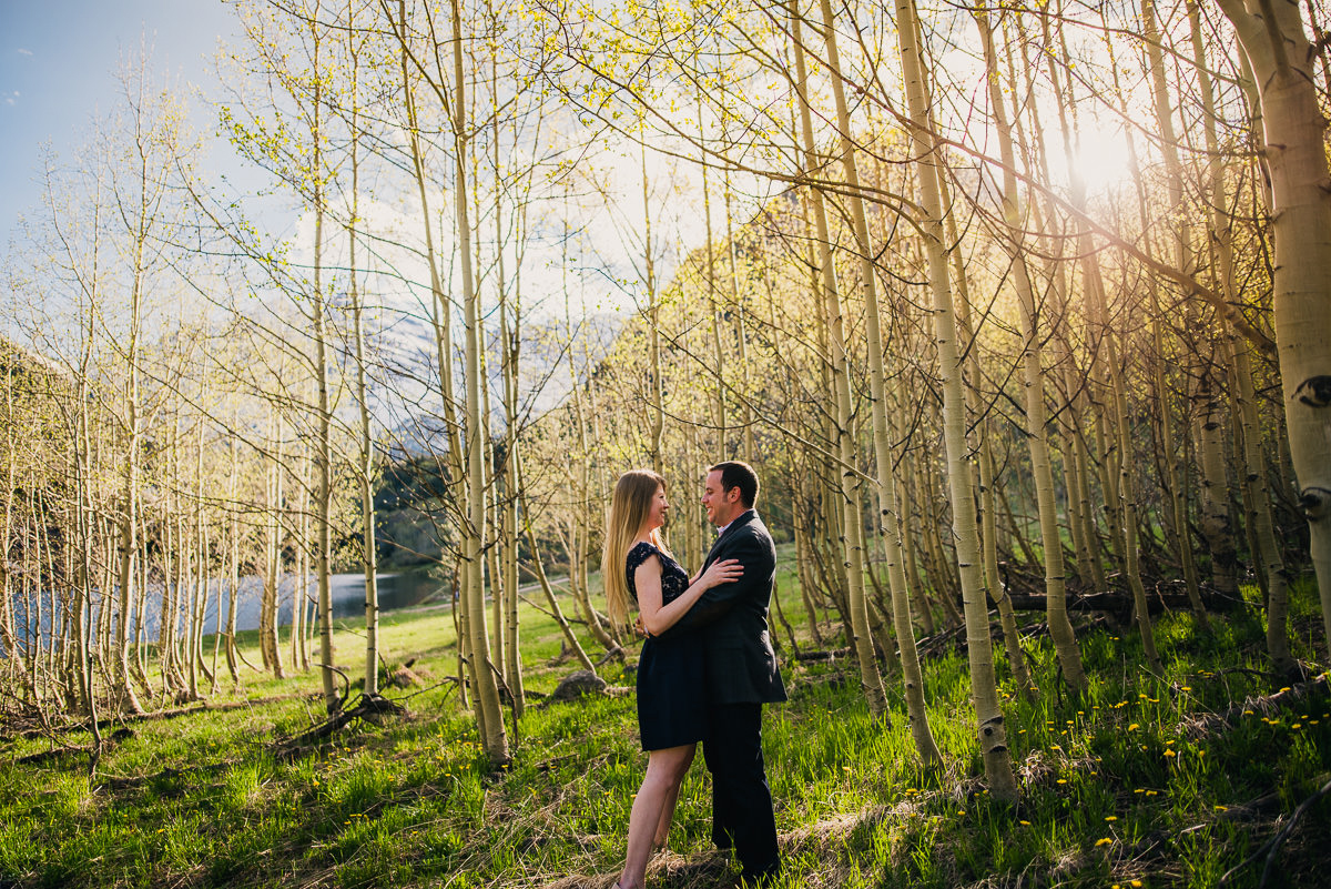 Engagement photos at the maroon bells in Aspen