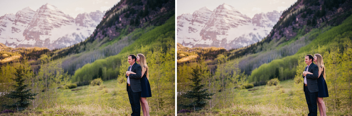 maroon bells engagement photography in aspen