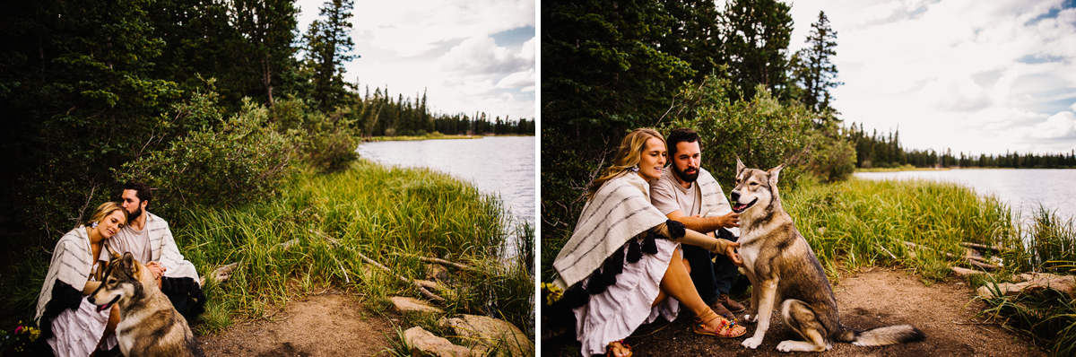Engagement photos in Echo Lake Colorado