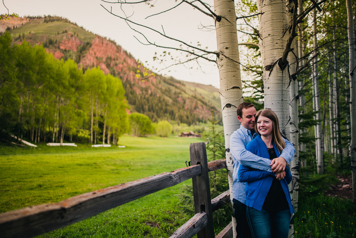 aspen colorado engagement photos