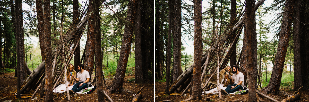 colorado tree fort engagement session