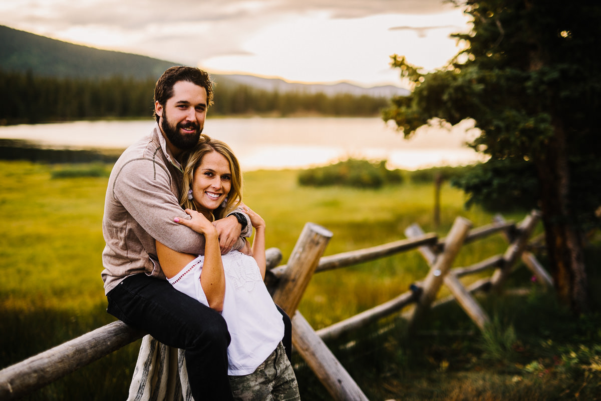 engagement photos near echo lake