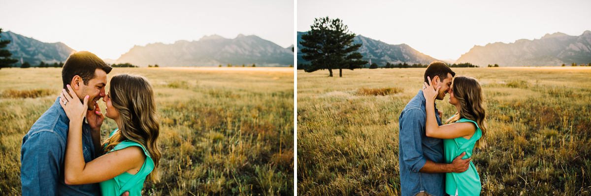 flatirons vista trailhead engagement session