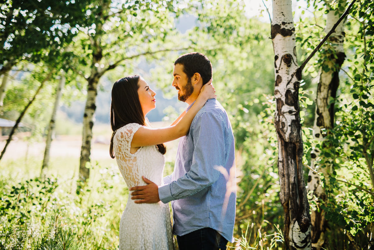 Engagement photos in hermit park near Estes Park Colorado