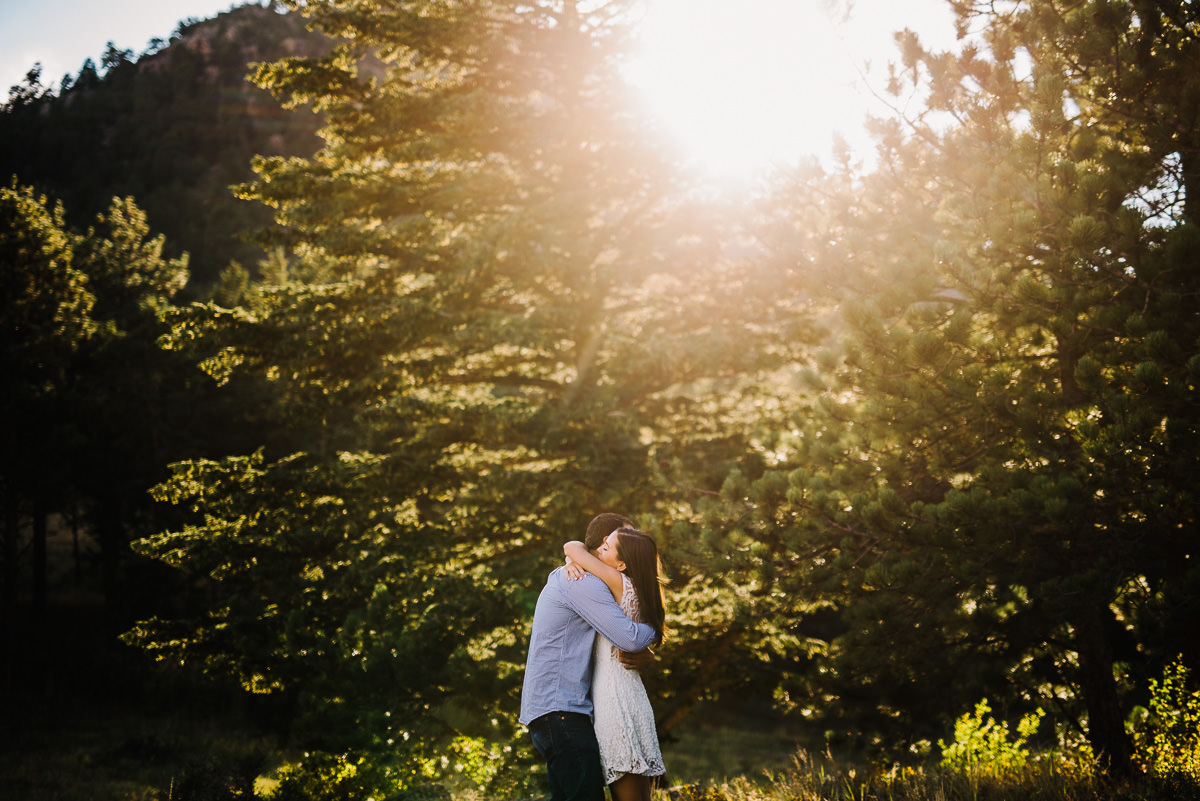 engagement photos in hermit park colorado