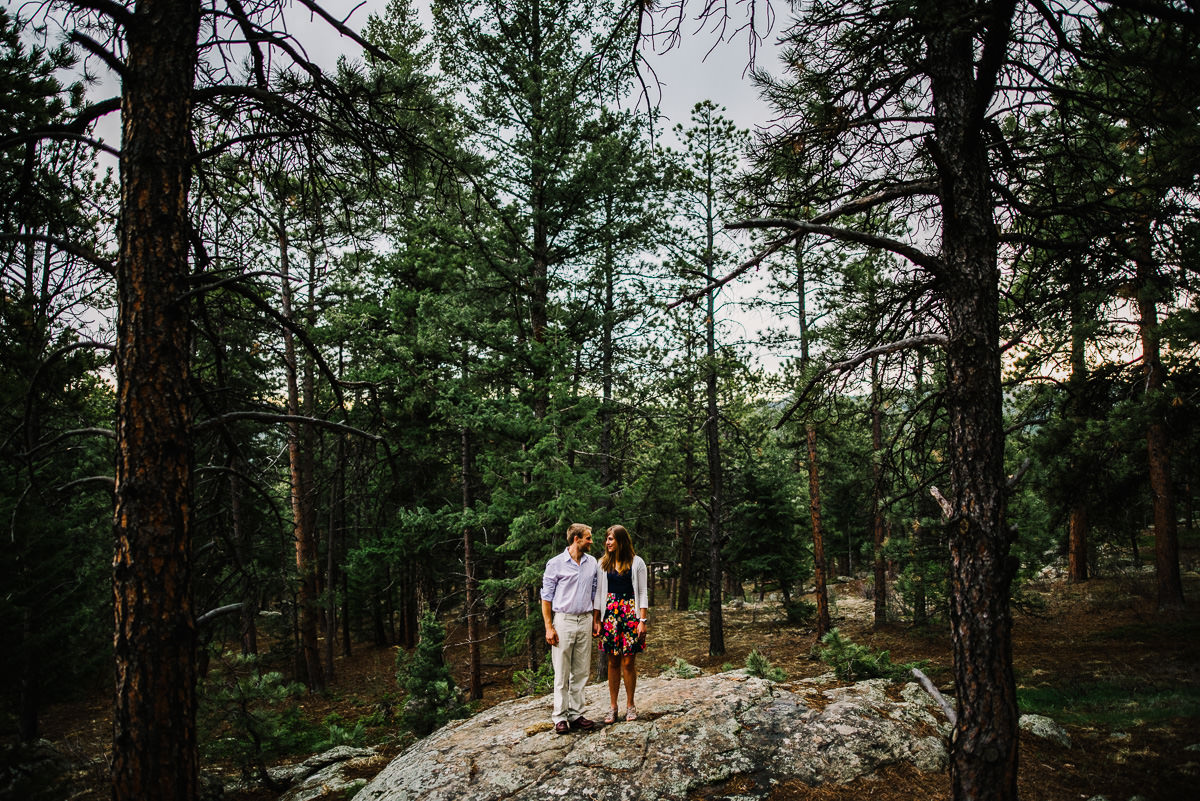 engagement photos in evergreen colorado