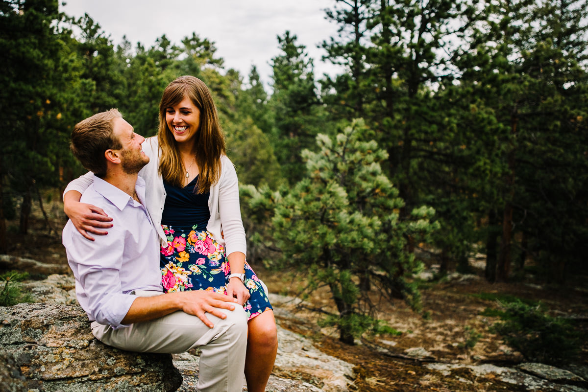 evergreen engagement photography