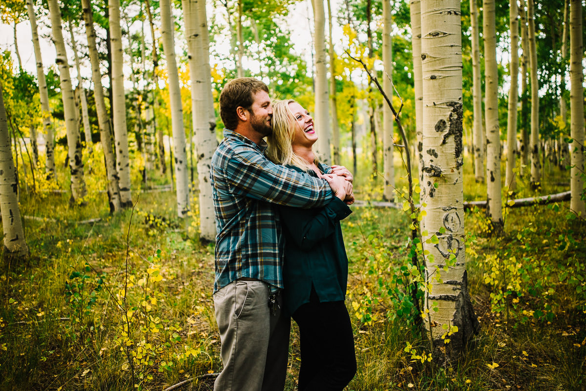 Engagement photos in Kenosha Pass, Colorado