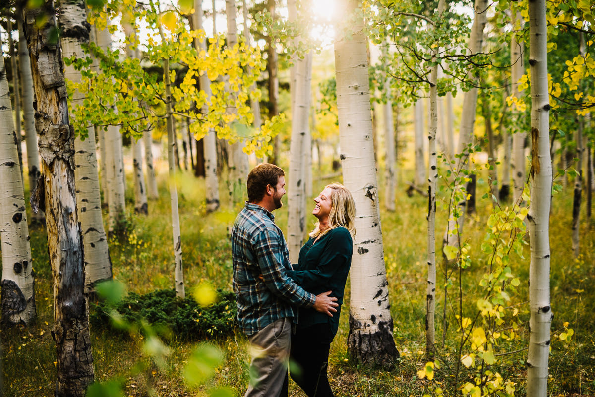 Fall Engagement Photos in Kenosha Pass