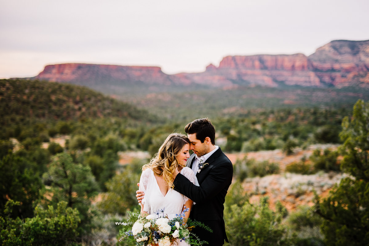 Arizona beautiful bride and groom portrait