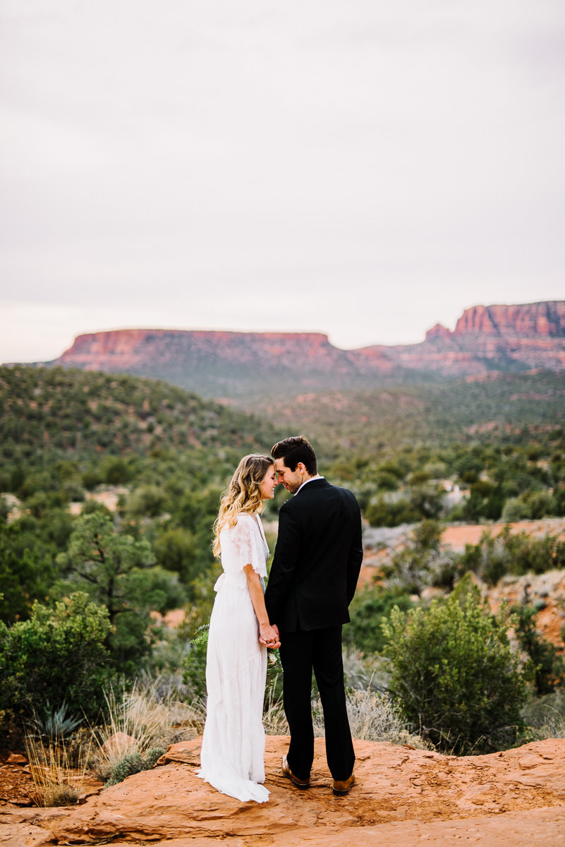 sedona boho wedding portraits