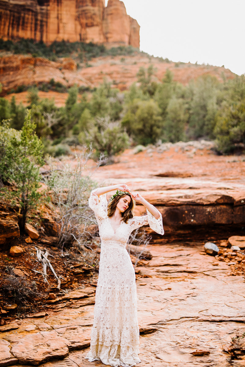 beautiful vintage bride sedona arizona