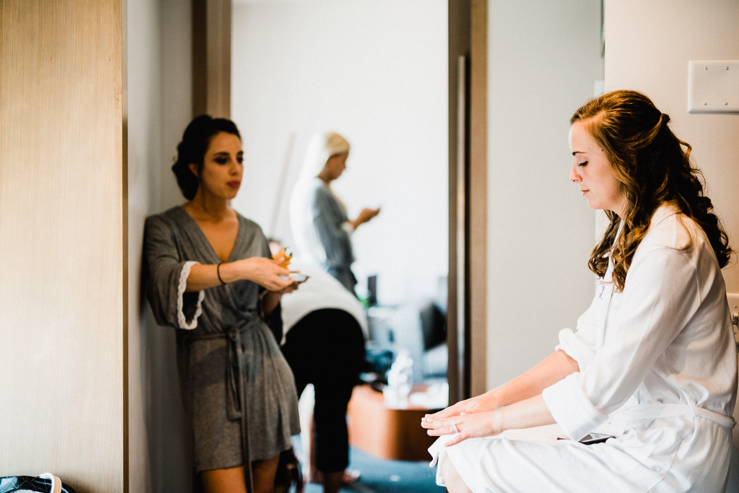 bridal party getting ready at the Denver Art Hotel
