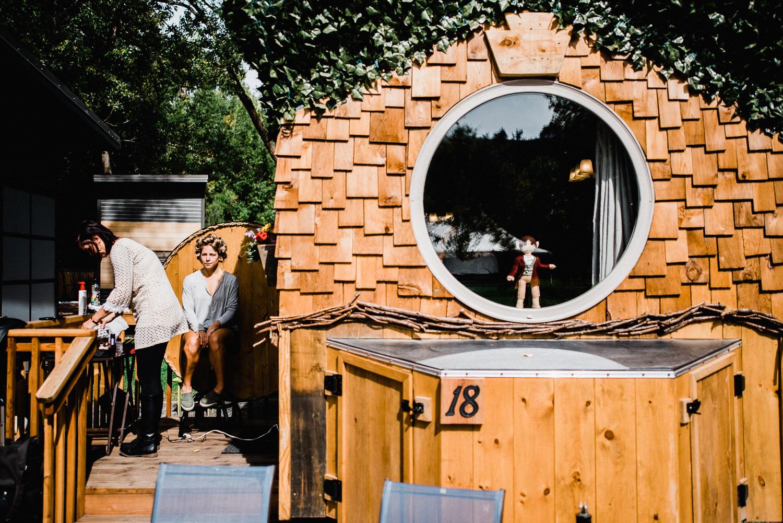 Hobbit themed tiny home at WeeCasa in lyons, Colorado