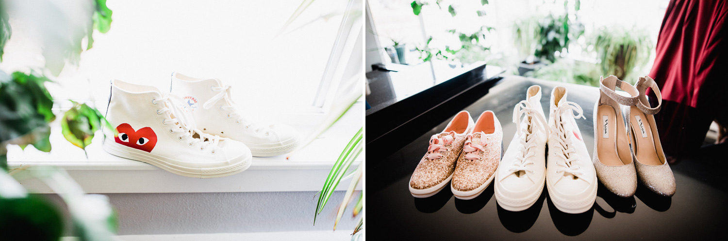commes de garcon x converse and kate spade by keds wedding shoes