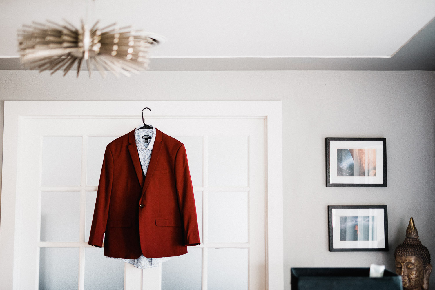 burgandy wedding suit photo