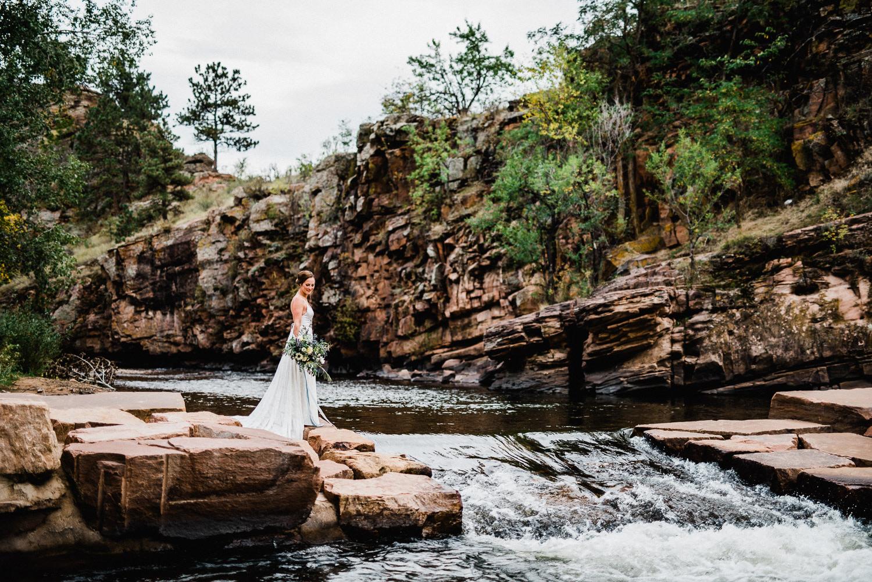 river bend wedding portrait in lyons colorado
