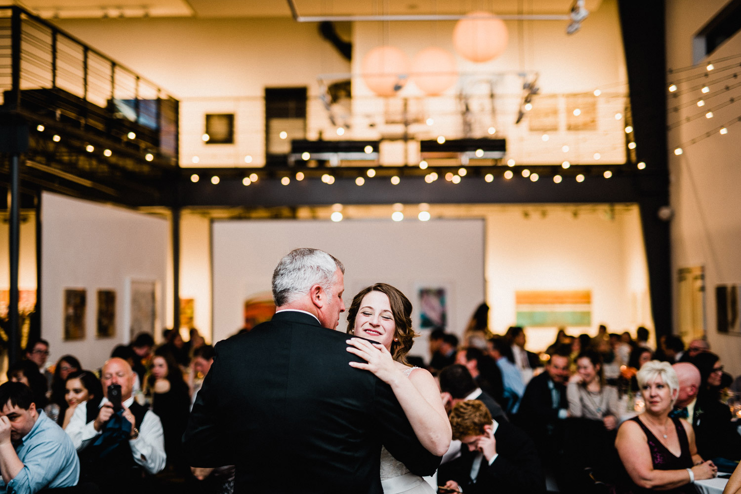 father daughter dance at space gallery in denver