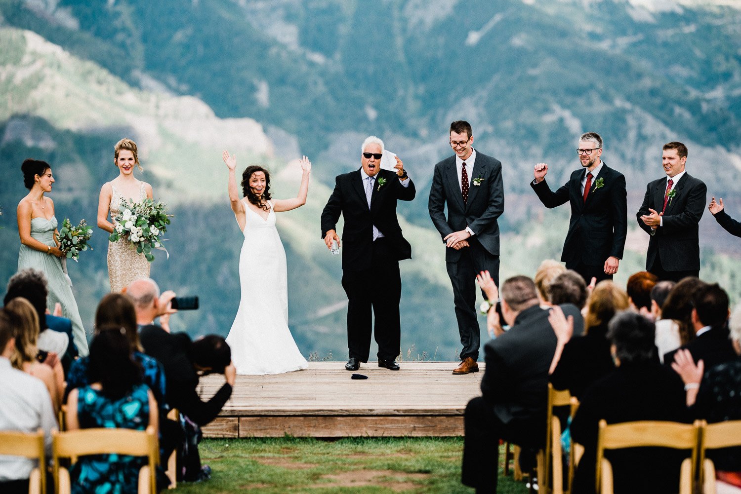 wedding photos in telluride colorado at the san sophia overlook