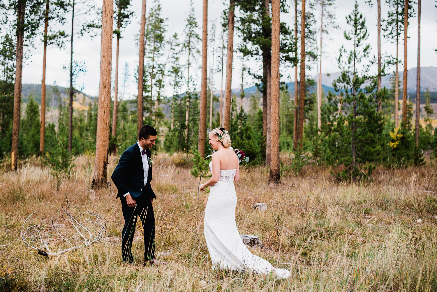 devil's thumb ranch wedding first look