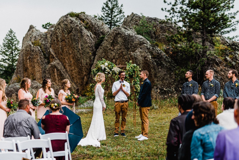 stove prairie ranch wedding ceremony