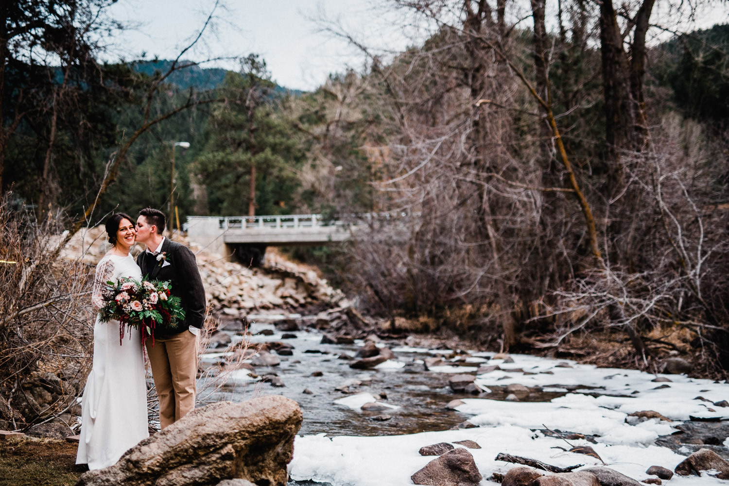 Winter wedding at Wedgewood Boulder Creek